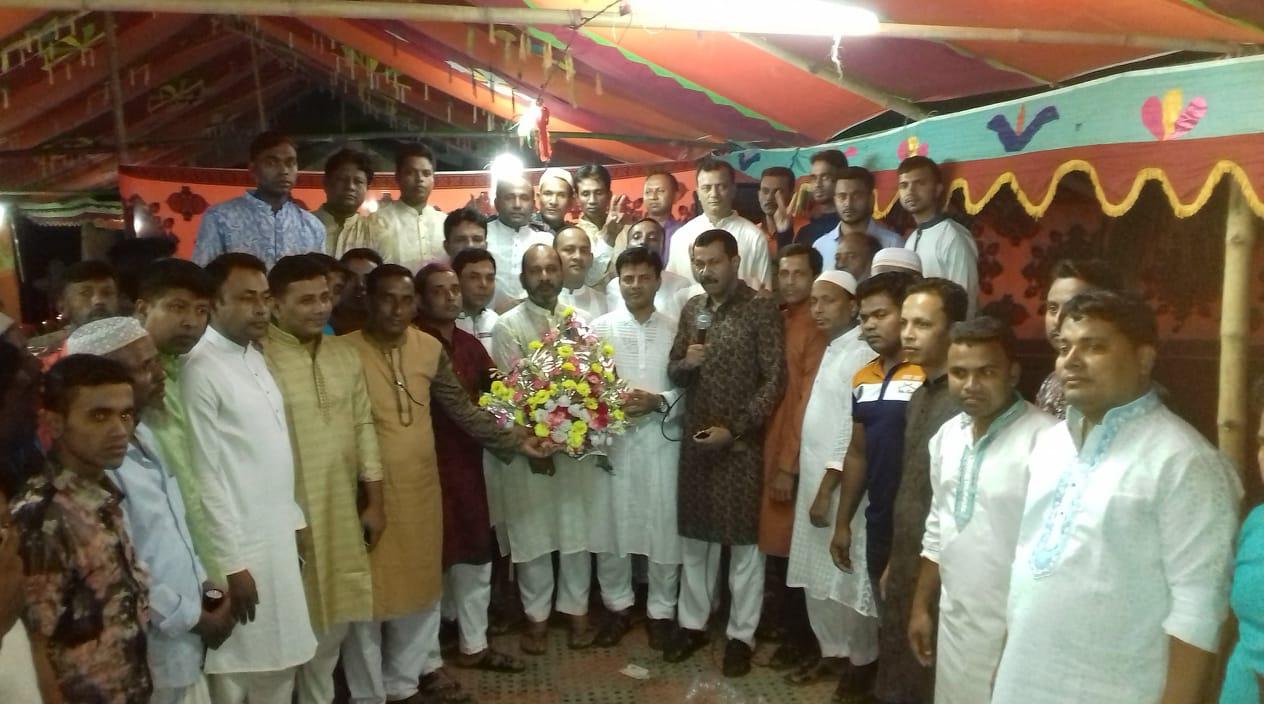চৌদ্দগ্রামে বিএনপির আহবায়ক কামরুল হুদার ঈদ শুভেচ্ছা বিনিময়
