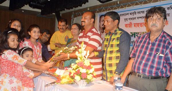 কুমিল্লায় কাজী মাহতাব সুমনকে সংবর্ধনা