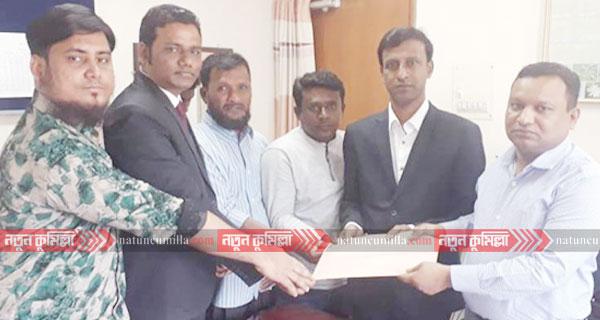 কুমিল্লা-১১: আসনে ছাত্রনেতা মাছুম বিল্লাহর মনোনয়ন সংগ্রহ