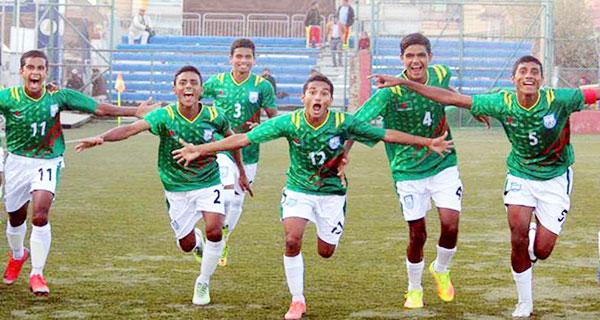সাফ অনূর্ধ্ব-১৫ ফুটবল চ্যাম্পিয়ন দলে কুমিল্লার শাকিল