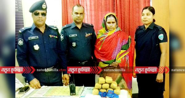 কুমিল্লায় গাড়ি বদল করেও ধরা ইয়াবা কুলছুম