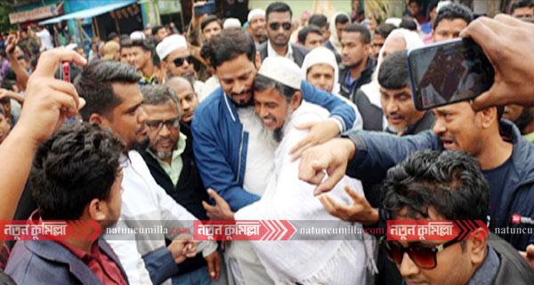 মুরাদনগরে বিএনপি প্রার্থী কে এম মজিবুল হকের গণসংযোগ