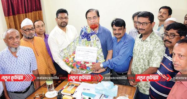 এমপি বাহার এর সাথে কুমিল্লা শিক্ষা বোর্ড চেয়ারম্যান ও সচিবের সাক্ষাৎ