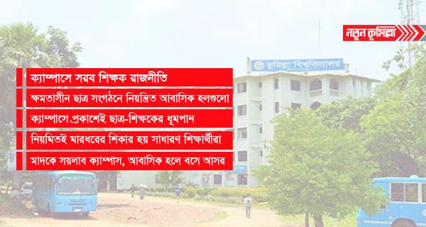 'কুমিল্লা বিশ্ববিদ্যালয় রাজনীতি ও ধূমপান মুক্ত' অঙ্গীকারনামায় সীমাবদ্ধ
